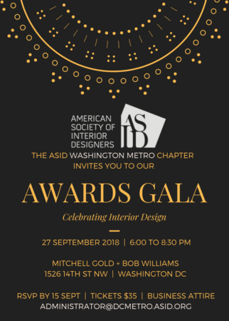 Join Us for Annual Awards Gala on September 27